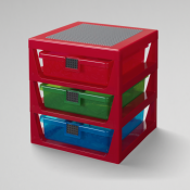 LEGO 3-Drawer Rack Red 40950001