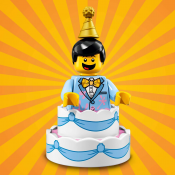 LEGO Minifuger Birthday Cake Guy 7102110