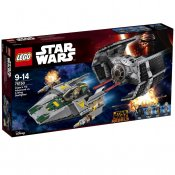 LEGO Skadad Ask Star Wars Vader´s TIE Advanced vs. A-Wing Starfighter SK75150