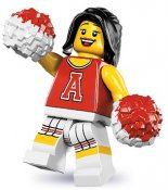 Minifigurer Cheerleader Röd 883313