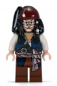 Minifigurer Kapten Jack Sparrow Cannibal 9901