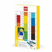 LEGO STATIONERY Buildable ruler, 15 cm or 30 cm w/minifigure 52558