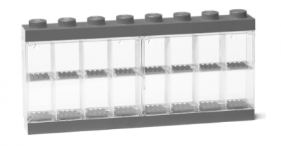 LEGO Minifigure Display Case 16 Grå 40660006