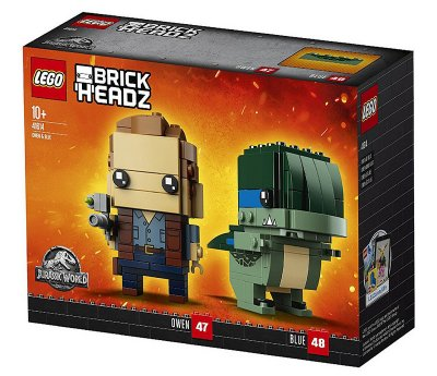 LEGO Brick Headz Jurassic World Owen & Blue 41614