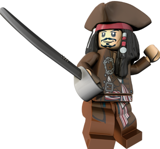 Minifigurer Pirates Jack Sparrow limited 4332