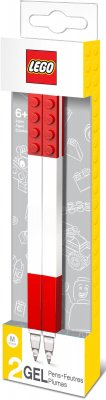 LEGO STATIONERY Gel pen, 2-pack, red