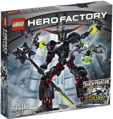 Hero Factory Black Phantom 6203