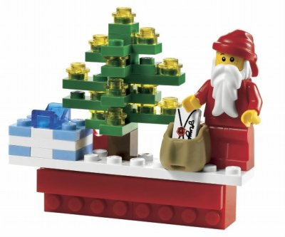 LEGO jul Holiday Scene Magnet 853353