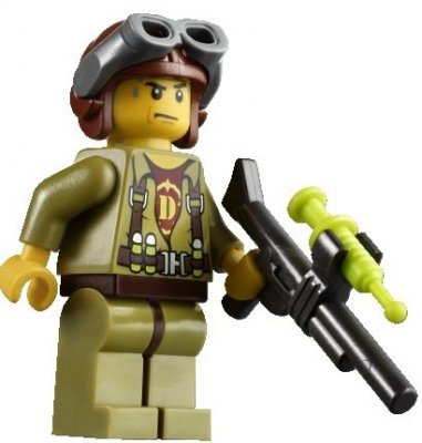 Minifigurer DINO Helicopter Pilot 9090
