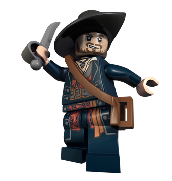 Minifigurer Pirates Kapten Barbossa 9902