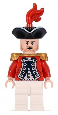 Minifigurer King George's Officer 9903