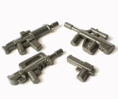 Minifigurer Vapen pack Charcoal black 88062