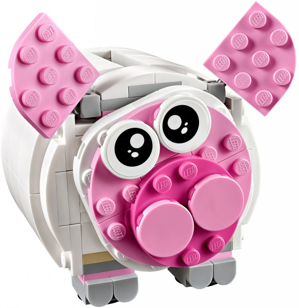 Lego mini piggy bank 40251 lego creator teman for Mini piggy banks